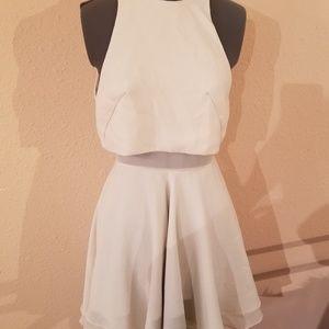 Asos off-white flowy skater crop dress